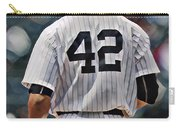 Mariano Rivera  New York Yankees Abstract Art 1 Carry-all Pouch