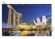 Marina Bay Sands Art Science Museum And Helix Bridge At Dusk Singapore Carry-all Pouch
