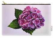 Maroon Hydrangea Carry-all Pouch
