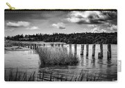 Mccormack's Beach Provincial Park, Black And White Carry-all Pouch