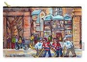 Mcgill University Roddick Gates Original Painting For Sale Hoockey Art C Spandau Canadian City Scene Carry-all Pouch