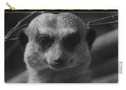 Meerkat Bw Pose Carry-all Pouch
