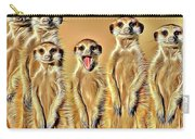 Meerkat Family Carry-all Pouch