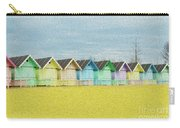 Mersea Island Beach Hut Oil Painting Look 1 Carry-all Pouch