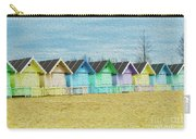 Mersea Island Beach Hut Oil Painting Look 3 Carry-all Pouch