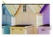 Mersea Island Beach Hut Oil Painting Look 6 Carry-all Pouch