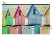 Mersea Island Beach Hut Oil Painting Look 7 Carry-all Pouch