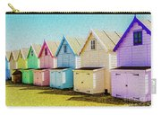 Mersea Island Beach Hut Oil Painting Look 9 Carry-all Pouch