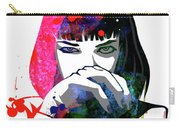 Mia Snorting Watercolor Carry-all Pouch
