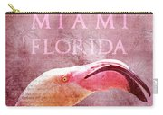Miami Florida- Pink Flamingo Carry-all Pouch