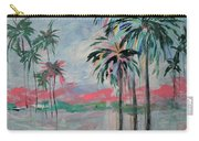 Miami Palms Carry-all Pouch by Kristen Abrahamson
