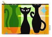 Mid Century Modern Abstract Mcm Bowling Alley Cats 20190113 Square Carry-all Pouch