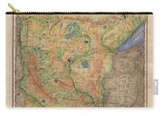 Minnesota Historic Wagon Roads Hand Painted Carry-all Pouch
