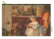 Miss Oakley Making The Scrapbook 1866 Carry-all Pouch
