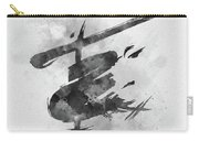 Miss Saigon Black And White Carry-all Pouch