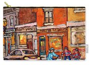 Molly And Bill's Duluth Near Coloniale And St Dominique C Spandau Plateau Mont Royal Hockey Artist  Carry-all Pouch