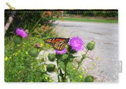 Monarch Butterfly Danaus Plexippus On A Thistle Carry-all Pouch