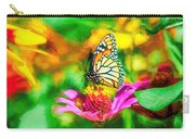 Monarch Butterfly Impasto Colorful Carry-all Pouch by Don Northup