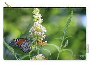 Monarch On White Butterfly Bush Carry-all Pouch