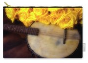 Moody Banjo And Yellow Roses Carry-all Pouch