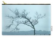 Moody Winter Landscape Image Of Skeletal Trees In Peak District  Carry-all Pouch