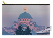 Moon In The Cross Of The Magnificent St. Sava Temple In Belgrade Carry-all Pouch