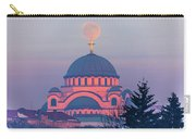 Moon On Top Of The Cross Of The Magnificent St. Sava Temple In Belgrade Carry-all Pouch