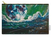 Moon Over Alcatraz Carry-all Pouch by Joel Tesch