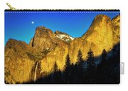 Moonrise Over Bridalveil  Falls Carry-all Pouch