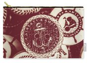 Mooring In Maroon  Carry-all Pouch