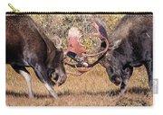 Moose Bulls Spar Close Up Carry-all Pouch
