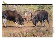Moose Bulls Spar In The Colorado High Country Carry-all Pouch