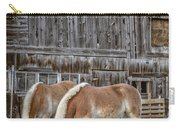 Horses By The Barn Sugarbush Farm Carry-all Pouch