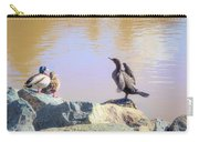 Morning Chat II Carry-all Pouch by Alison Frank