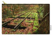 Mossy Train Track In Fall Carry-all Pouch