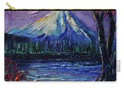 Mount Fuji - Textural Impressionist Palette Knife Impasto Oil Painting Mona Edulesco Carry-all Pouch