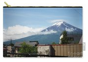 Mount Fuyji From A Distance With Clouds Around It Carry-all Pouch