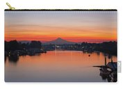 Mount Hood Over Columbia River At Dawn Carry-all Pouch