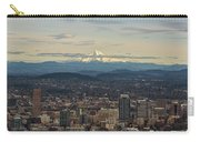 Mount Hood View Over Portland Cityscape Carry-all Pouch