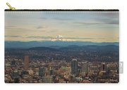 Mount Hood View Over Portland Cityscape Panorama Carry-all Pouch