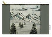 Mountain Foggy Dawn - In Abstract Realism Carry-all Pouch