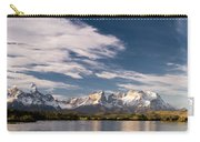 Mountain Range At Sunset Seen From Rio Carry-all Pouch