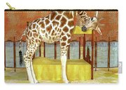 Ms Kitty And Her Giraffe  Carry-all Pouch
