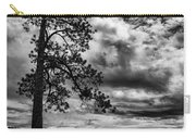 My Favorite Tree Black And White Carry-all Pouch