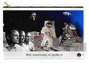 Nasa 50th Anniversary Of The Apollo 11 Lunar Landing By Artist Todd Krasovetz Carry-all Pouch