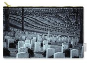 National Cemetery In Black And White Carry-all Pouch by Tom Singleton