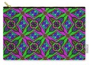 Neon Diamond Pattern Carry-all Pouch