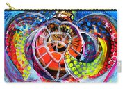 Neon Sea Turtle Wake And Drag Carry-all Pouch