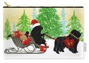 Newfoundland Dog Christmas Card Carry-all Pouch