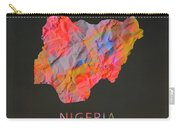 Nigeria Tie Dye Country Map Carry-all Pouch